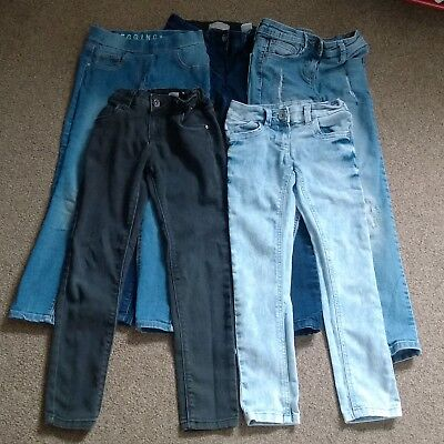 Five Pairs Of Girls Jeans 7-8