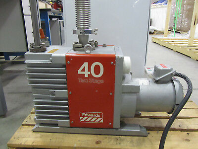 Boc Edwards 40 Vacuum Pump E2M40 Two Stage Rotary Vane Semiconductor Nice!
