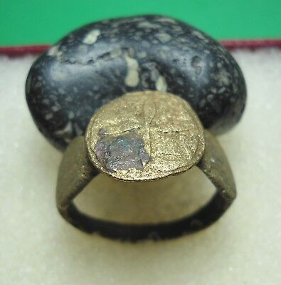 Ancient Roman Bronze Ring Original Authentic Antique Rare R301