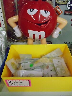 """15"""" tall M&M guy red display with yellow tray New In Box"""