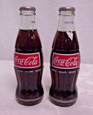 Lot of Two Coca-Cola Glass Bottles 200 mL 2004