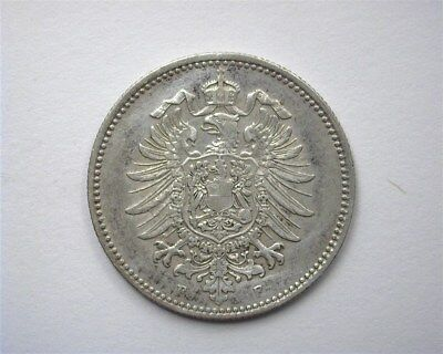 Germany 1886-F Silver Mark  Nearly Uncirculated