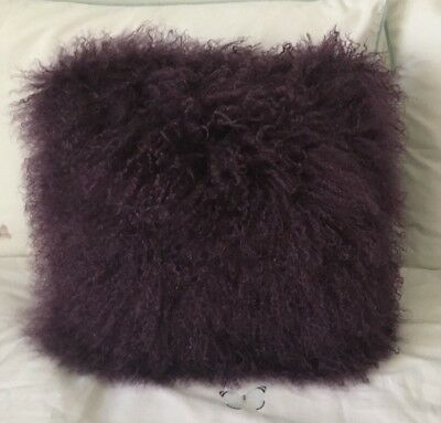 Brand New Genuine Soft Mohair Cushions Gorgeous Purple/Adairs Style