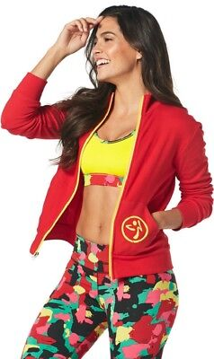 Zumba One Love  Zip Up Cardigan Jacket Black Small and RED Large and  XL
