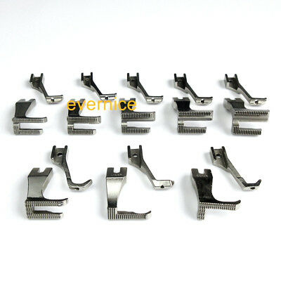 13 Sets Walking Piping /& Welting Zipper Feet For Yamata 5318 Highlead Gc0318 Gc0