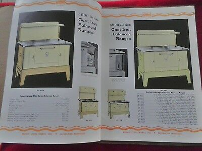 Brown Stove Works Inc CATALOG Advertising  wood burning Cleveland Tennessee