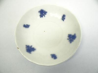 Adderley Blue Chelsea Embossed Raised Smooth Grape and Sprig 5 12 Saucer
