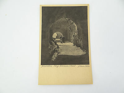 Antique Unposted Jerusalem King Solomon St Benor Kalter Art Publishing Postcard