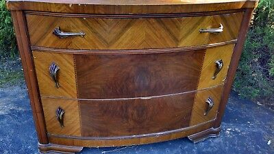 Art Deco Dresser antique early 1900's Waterfall Design