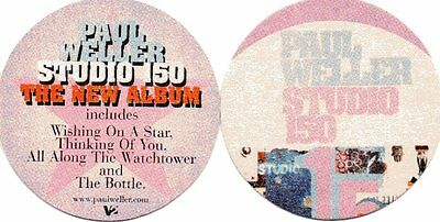 Paul Weller pair of Studio 150 promo beermats (The Jam)