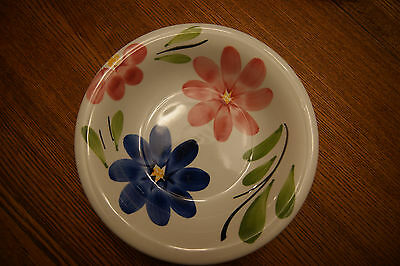 TERNANA CERAMICA ITALY HAND PAINTED FLOWERS CEREAL/ SOUP Bowl