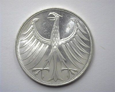 Germany 1974-G Silver 5 Mark  Gem+ Uncirculated Proof Like