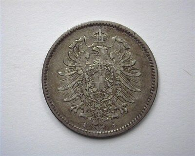 Germany 1878-J Silver Mark  About Uncirculated