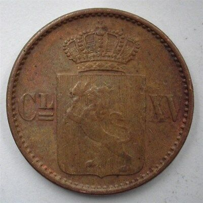 Norway 1870 Skilling  Near Choice Uncirculated Br