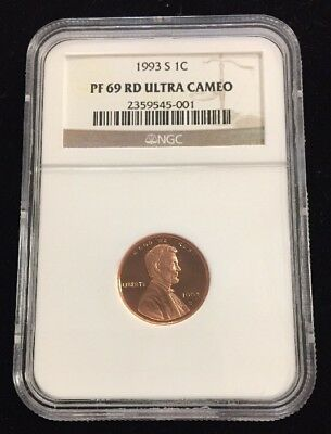 1993-S 1C Lincoln Cent NGC PF69 RD Ultra Cameo