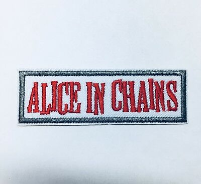 Alice In Chains Patch Music Band Heavy Metal Rock Alternative Grunge Punk