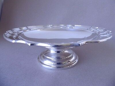 Excellent Antique Sterling Silver Fruit/ Cake Comport Dish 1922, 317 Grams