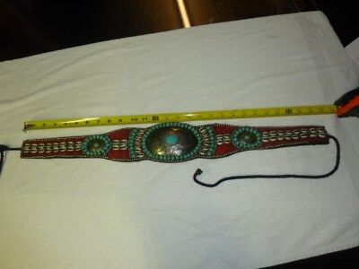 Vintage Belt Turquoise Stones 27 to 35 inches in length.