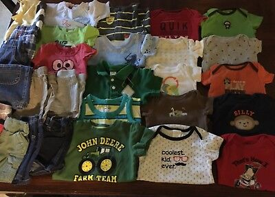 Baby Boys Summer Clothes Lot Shorts And Shirts  6-9 Months