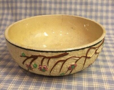 """ANTIQUE BOWL From Asia CHERRY BLOSSOMS  7"""" X 2-3/4"""" Old"""