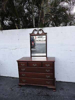 Solid Mahogany Dresser with Mirror by James Mc Creery and Co. 8094