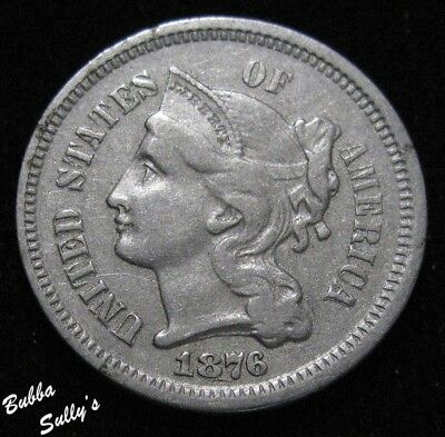 1876 III Cent Nickel <> EXTREMELY FINE