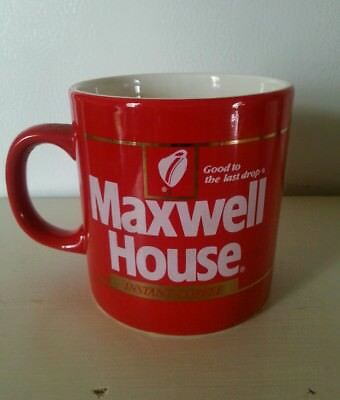 Great Bright Red Collectible Maxwell House Coffee Mug