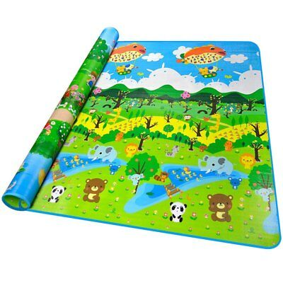 Carpet for children soft to play babies sides double design anima 200X180CM