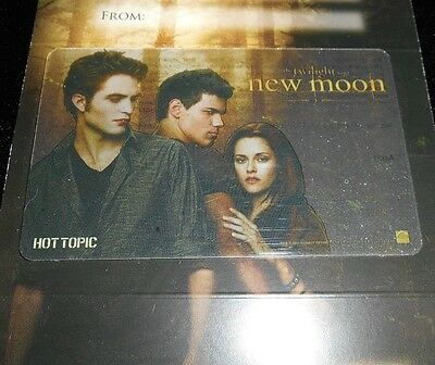 Collectible Gift Card TWILIGHT New Moon Jacob Ed Hot Topic Store No Value <2010
