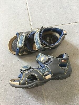 Baby Boys Clarks Doodles Sandals Navy UK Size 5.5 G Infant
