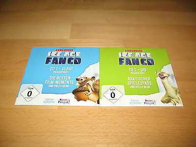 Exclusive Ice Age Fan CD CD1 + CD2 / Kinder Pingui, Milchschnitte neu
