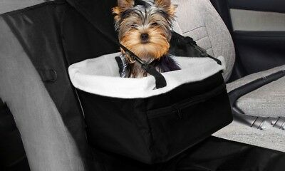new black pet car booster seat  puppy or dog up to 9kg - collapsible, easy clean