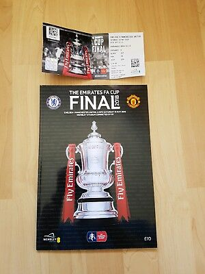 Manchester United v Chelsea 2018 FA Cup final match programme & ticket