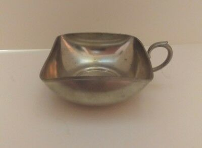 Vintage Royal Holland Square Pewter Bowl with Handle KMD