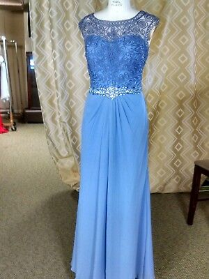 Designer Cap Sleeve Evening Gown Special Occasion Banquet Dress Size 14