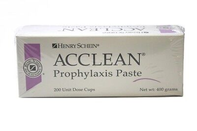 Henry Schein Acclean Prophy Paste Cups BUBBLE GUM COARSE Non Splatter - Box/200