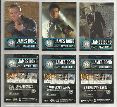 "2011 James Bond: Mission Logs LOT OF 3 ""Promo Cards"" (P1-P2-P4)"