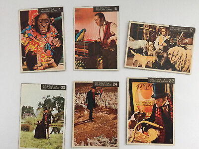 1950s Dr. Doolittle - 6 cereal box cards - #s 1,5,17,24,32,33