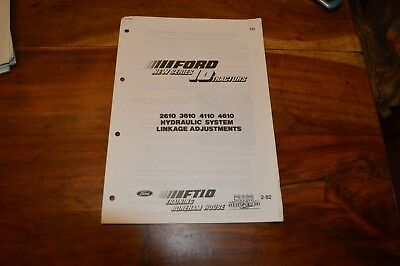 Ford 2610 3610 4110 & 4610 Hydraulic System Linkage adj. Service Manual  (5)