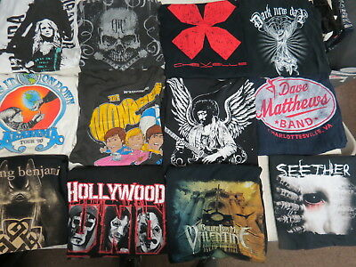 Lot Of 53 Concert T Shirts Vintage T Shirts Vintage Tees Rock Pop Country Metal