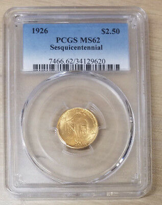 1926 Sesquicentennial $2.50 Gold Commemorative PCGS MS-62