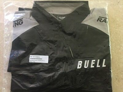 Buell American Motorcycle All Am Pit Shirt Long Sleave - Blk/Gry XL (NWT)