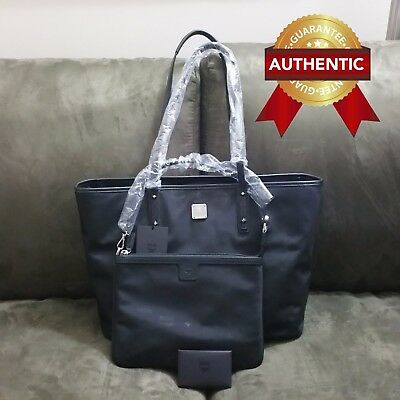 f136c54aaf25 NEW AUTHENTIC MCM DIETER Medium Shopper tote in Nylon w  Pouch ...