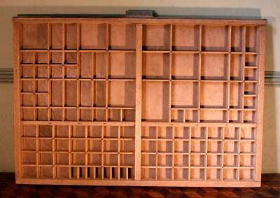 Vintage Art Deco Radiguer French Wooden Printers Tray Letterpress Type Display A