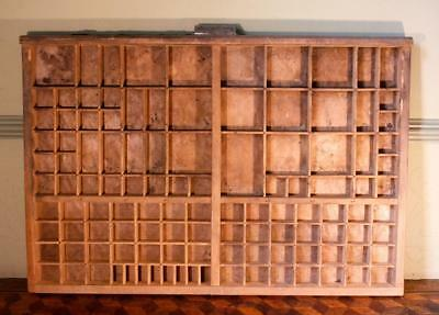 Vintage Art Deco Radiguer French Wooden Printers Tray Letterpress Type Display C