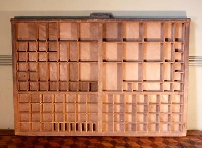 Vintage Art Deco Radiguer French Wooden Printers Tray Letterpress Type Display E