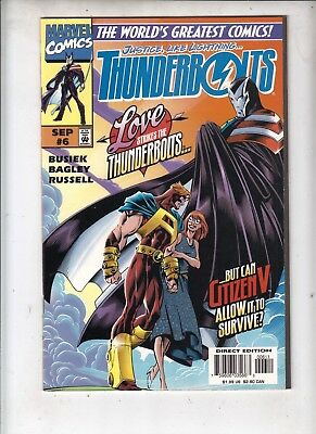 """THUNDERBOLTS #6  Marvel 1997  """"Unstable Elements""""  VERY FINE   COMBINED POST"""