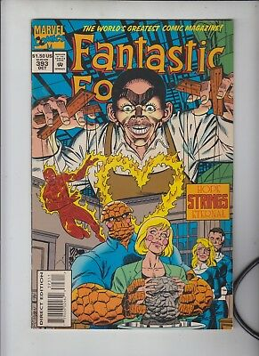 """FANTASTIC FOUR #393  Marvel 1994  The PUPPET MASTER""""  Subsription card insert"""