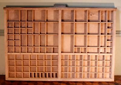 Vintage Art Deco Radiguer French Wooden Printers Tray Letterpress Type Display H