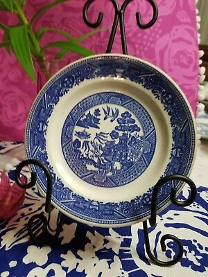Buffalo Pottery Blue Willow 1 Bread and butter Plate Blue and white